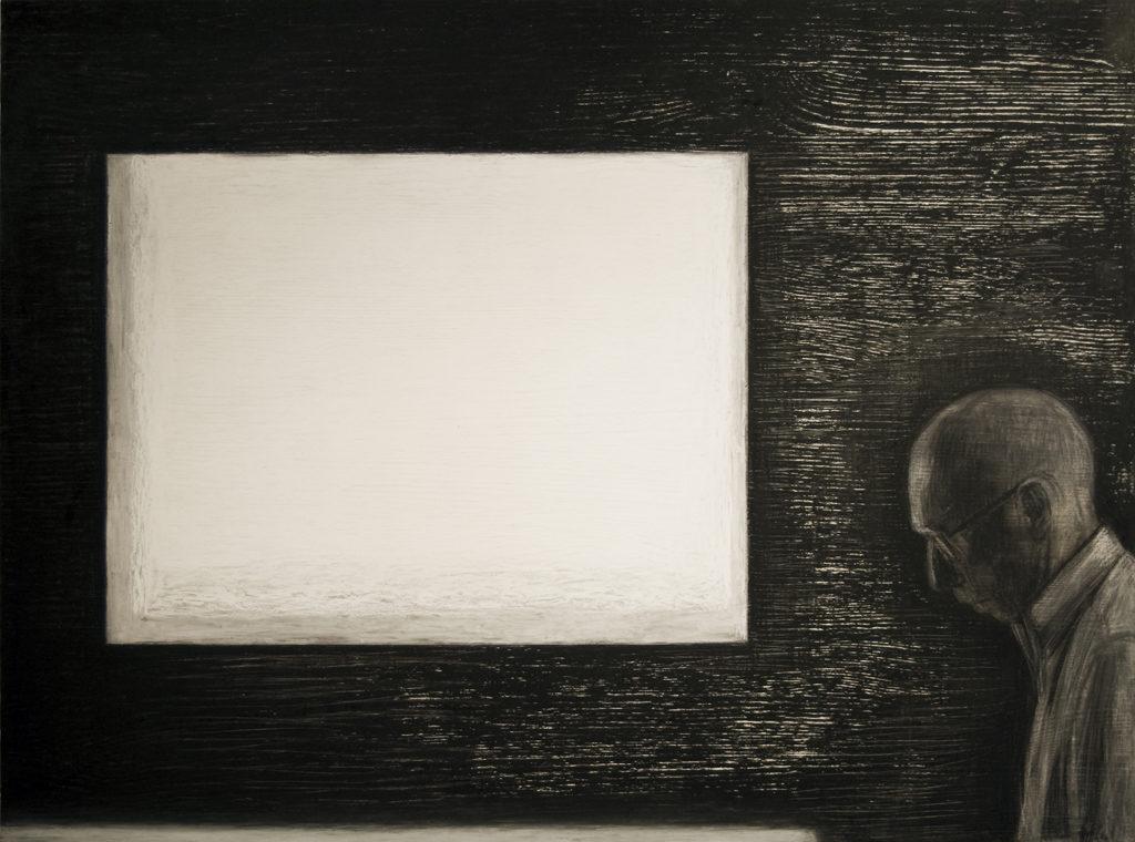 Sõnatu. 2011. Õlipastell puidul. / Wordless. Oilpastel on wood, 80 x 60 cm