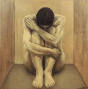 Enesetunde asi II. 2001. Õli lõuendil. / Question of self-reliance II. Oil on canvas, 150 x 150 cm