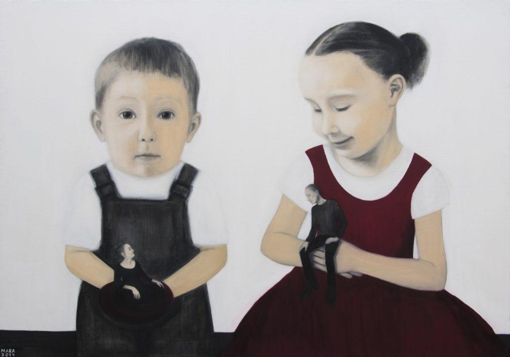 Meie uus elu. 2014. Õli lõuendil. / Our new life. Oil on canvas, 195 x 137 cm