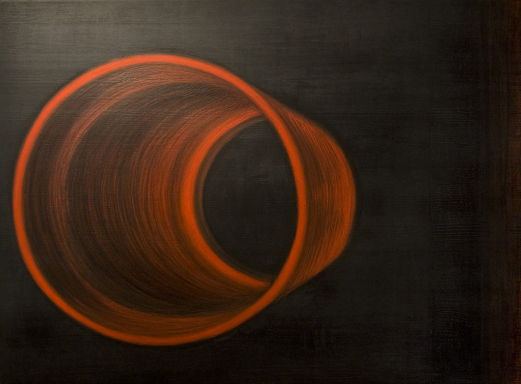 Reaalajas. 2011. Õlipastell puidul. / In real-time. Oilpastel on wood, 80 x 60 cm