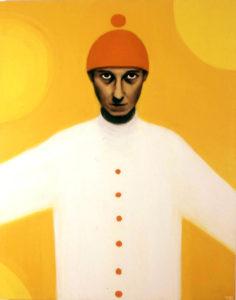 Siht silmis. 2007. Õli lõuendil. / Aim in the eyes. Oil on canvas, 195 x 137 cm