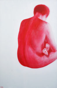 Rahu. 2008. Akrüül lõuendil. / Peace. Acrylic on canvas, 140 x 80 cm