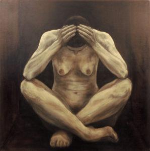 Enesetunde asi III. 2001. Õli lõuendil. / Question of self-reliance III. Oil on canvas, 150 x 150 cm
