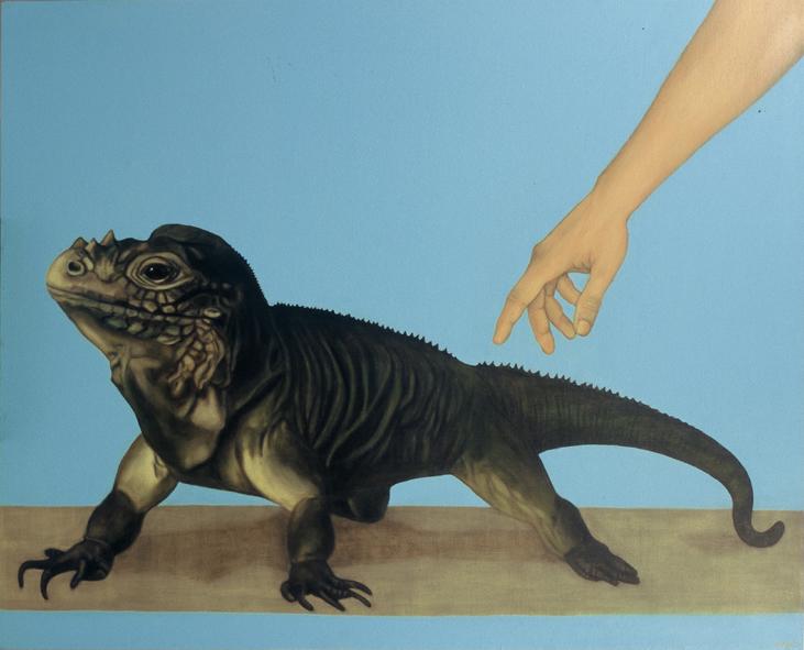 Side III. 2004. Õli lõuendil. / Connection III. Oil on canvas, 150 x 120 cm