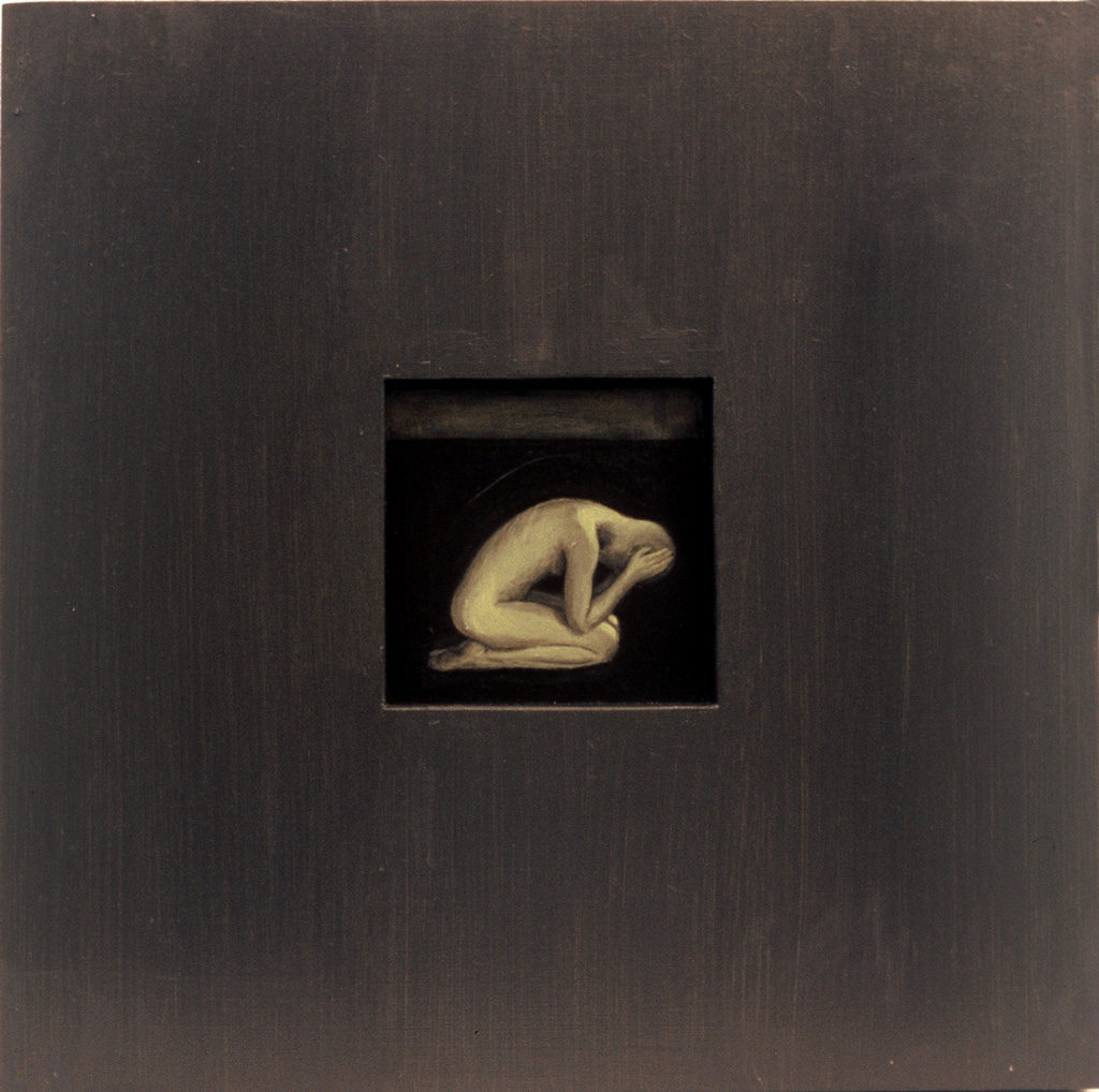 Tervenemine II. 2002. Akrüül alusel. / Mental recovery II. Acrylic on cardboard, 40 x 40 cm