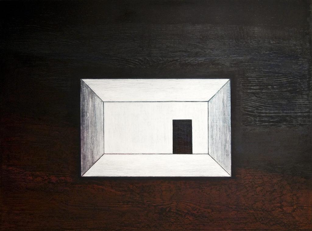 Edasi ei saa. 2011. Õlipastell puidul. / You can't get further. Oilpastel on wood, 80 x 60 cm