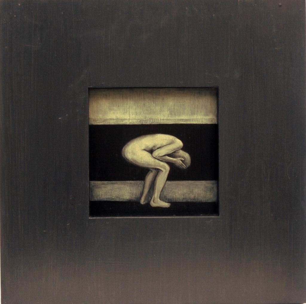 Tervenemine III. 2002. Akrüül alusel. / Mental recovery III. Acrylic on cardboard, 40 x 40 cm