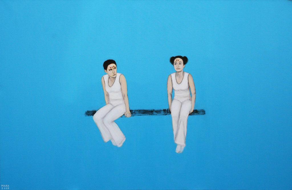 Dilemma. 2008. Akrüül lõuendil. Erakogus. / Dilemma. Acrylic on canvas, 87 x 60 cm. In privat collection
