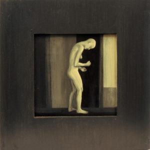 Tervenemine IV. 2002. Akrüül alusel. / Mental recovery IV. Acrylic on cardboard, 40 x 40 cm