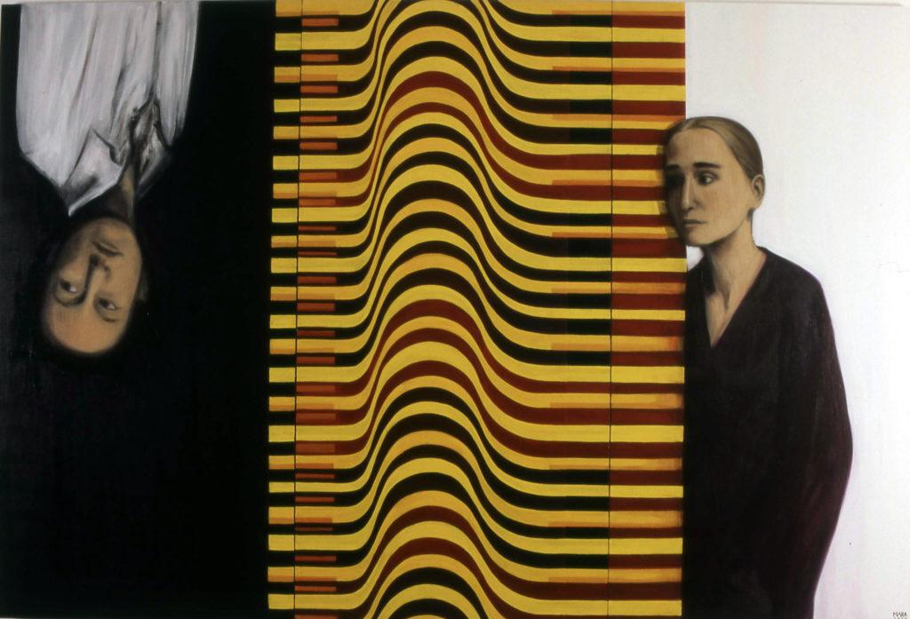 Liiga kaua liiga kaugel. 2007. Õli lõuendil. / Too long too far. Oil on canvas, 180 x 160 cm