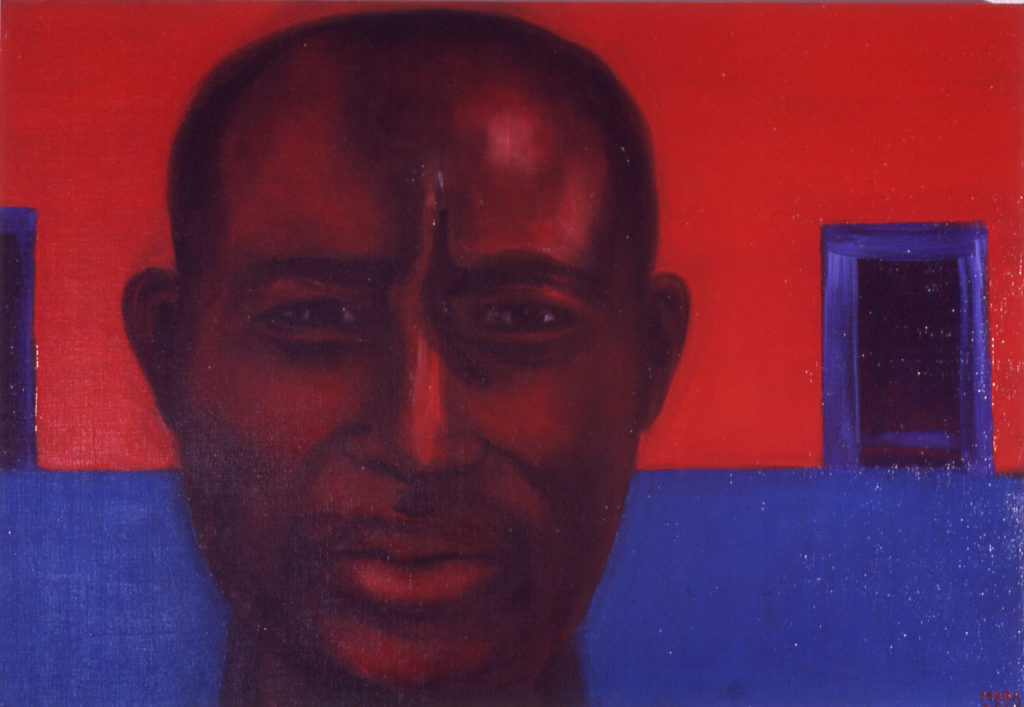Otsustusvõimetu. 2006. Õli lõuendil. Erakogus. / Can't deside. Oil on canvas, 87 x 60 cm. In privat collection
