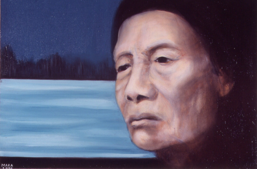 Kriipiv üksindus. 2006. Õli lõuendil. Erakogus. / Creepy loneliness. Oil on canvas, 87 x 60 cm. In privat collection