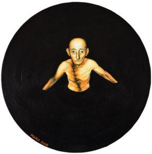 Enesehaletsuse vang. Akrüül lõuendil, diam 50 cm. 2008