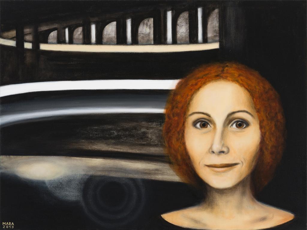 Teatriteemaline maal. Loomine-Diiva III. 2019. Õli lõuendil.120 x 90 cm