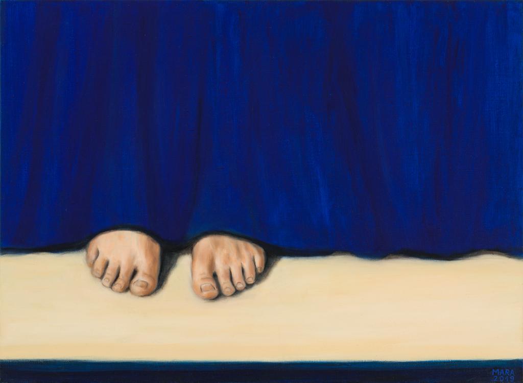 Teatriteemaline maal. Lähedal. 2019. Õli lõuendil. 100 x 73 cm