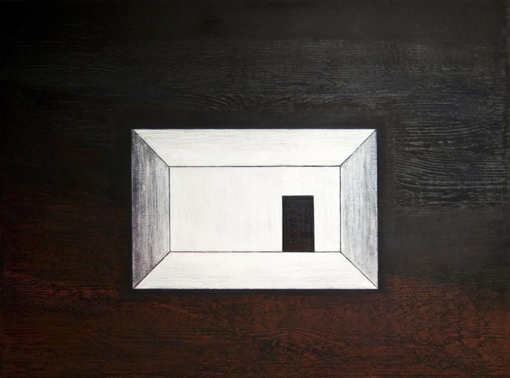 Edasi ei saa, 2011,õlipastell puidul, 80 x 60 cm